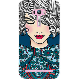 Snapdilla Good Looking Cute Pretty Girl Artistic ClipArt Back Cover For Asus Zenfone Selfie ZD551KL