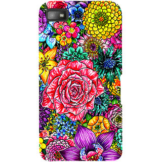 Snapdilla Colorful Clipart Flowers Beautiful Floral Design Mobile Case For BlackBerry Z10