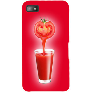 Snapdilla Awesome Red Background Tomato Juice Drink Uique Mobile Cover For BlackBerry Z10