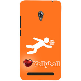 Snapdilla Orange Background Trendy Best Beach Volley Ball Player 3D Print Cover For Asus Zenfone 5