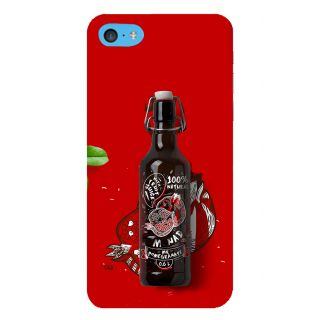 Snapdilla Red Background Beer Bottle Unique Cartoon Pomegranate Cell Cover For Apple IPod Touch 6
