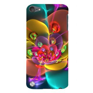 Snapdilla Multi Color Artistic 3D Flower Graphical Droplets Simple Smartphone Case For Apple IPod Touch 5