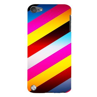 Snapdilla Cross-Hatched Colourful Multi Color Stripes Pattern Classic Different Mobile Pouch For Apple IPod Touch 5