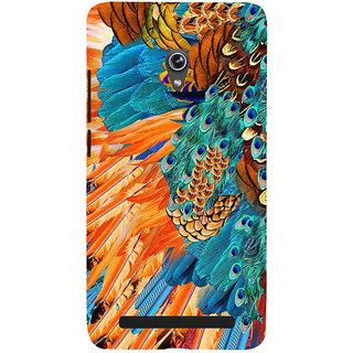 Snapdilla Multi Color Leather Peacock Eye Nemali Pincham Feather Mobile Case For Asus Zenfone 5