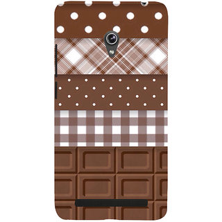 Snapdilla Dark Chocolate Pattern Choco Lovers Simple Good Looking Cell Cover For Asus Zenfone 5