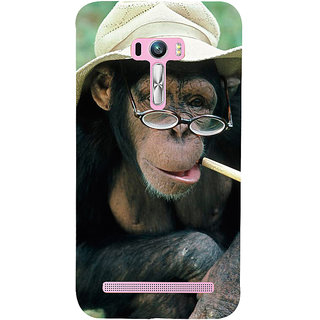 Snapdilla Funny Crazy Stylish Funky Chimpanzee Monkey Wild Life Hd Photo 3D Print Cover For Asus Zenfone Selfie ZD551KL