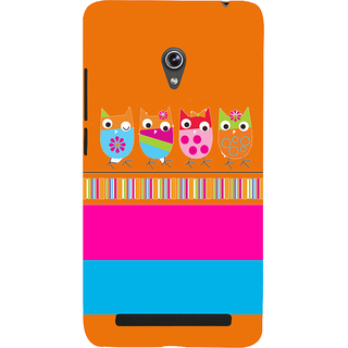 Snapdilla Artistic Multi Color Stripes Pattern Colourful Pet Owls Candy Mobile Case For Asus Zenfone 5