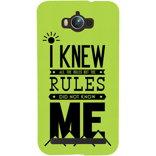 Snapdilla I Knew All The Rules Funny Crazy College Student Feelings Quote Smartphone Case For Asus Zenfone Max