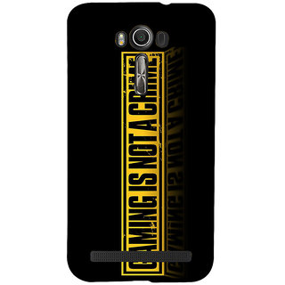 Snapdilla Black Background Gaming Is Not A Crime Quote Special Designer Case For Asus Zenfone 2 Laser ZE601KL