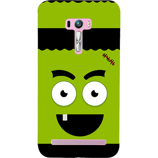 Snapdilla Funny Green Stitch Face Green Background Unique Designer Case For Asus Zenfone Selfie ZD551KL