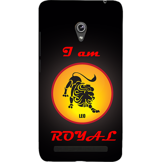 Snapdilla Good Looking Black Color Leo Horoscope Royal Lion Zodiac Signs Raasi Mobile Pouch For Asus Zenfone 5