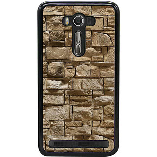 Fuson Designer Back Cover For Asus Zenfone 2 Laser ZE550KL (5.5 Inches) (Bricks Stones Concrete Wall Strong Wall Pebbles Irregular Pattren)
