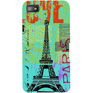 Snapdilla Vintage Modern Art Multi Color Love Paris Painted Eiffel Tower Mobile Cover For BlackBerry Z10