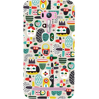 Snapdilla Artistic Modern Art Different Pattern Cute Looking Smartphone Case For Asus Zenfone Selfie ZD551KL