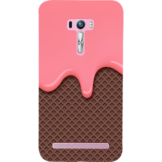 Snapdilla Artistic Dark Chocolate Wafer Pink Ice-Cream Back Cover For Asus Zenfone Selfie ZD551KL