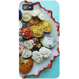 Snapdilla Multi Color Fancy Unique Sea Shell Ornamental Pearls Back Cover For BlackBerry Z10