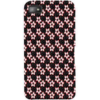 Snapdilla Black Background Beautiful Floral Pattern Modern Attractive Mobile Pouch For BlackBerry Z10