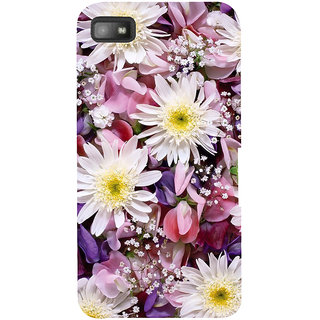 Snapdilla Animated Clipart Colourful Cute Daisy Flower Background 3D Print Cover For BlackBerry Z10