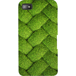 Snapdilla Good Looking Beautiful Green Zig Zag Net Pattern Lovely Looking Phone Case For BlackBerry Z10