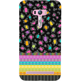 Snapdilla Multi Coloured Stripes Pattern Awesome Black Background 3D Print Cover For Asus Zenfone Selfie ZD551KL