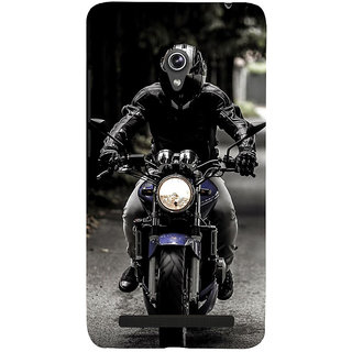 Snapdilla Black Background Leather Jacket Awesome Bike Rider Mobile Cover For Asus Zenfone 5