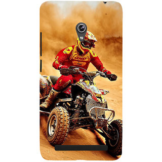 Snapdilla Desert Sand Motorcycle Rider Awesome Unique Designer Case For Asus Zenfone 5