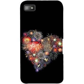 Snapdilla Colouful Heart Shaped True Love In The Air Fireworks Branded Mobile Pouch For BlackBerry Z10