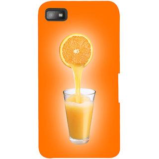Snapdilla Light Color Background Orange Fruit Juice Logo Uique Mobile Case For BlackBerry Z10