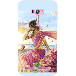 Snapdilla Artistic Lovely Girl Impressive Modernart Abstract Painting Mobile Pouch For Asus Zenfone Selfie ZD551KL