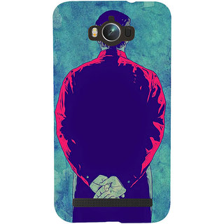 Snapdilla Unique Artistic Gentleman Attitude Man Facing Back Designer Case For Asus Zenfone Max