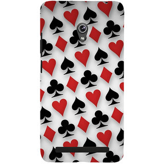 Snapdilla Playing Card Deck Spades Ace Hearts Daimond Jacky Lovers Designer Case For Asus Zenfone 5