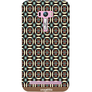Snapdilla Trendy Artistic Floral Checkered Pattern Stylish Cool Designer Case For Asus Zenfone Selfie ZD551KL