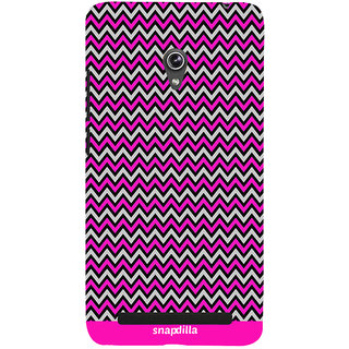 Snapdilla Simple Stylish Pink Stripes Pattern Best Cool Mobile Pouch For Asus Zenfone 5