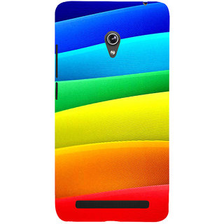 Snapdilla Artistic Multi Color Pattern Different Texture Good Looking Mobile Pouch For Asus Zenfone 5