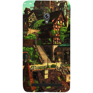 Snapdilla Unique Cool Animated Cartoon Castle Colorful Back Cover For Asus Zenfone 5