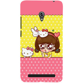 Snapdilla Awesome Funny Animated Clipart Hello Kitty Cartoon Cell Cover For Asus Zenfone 5
