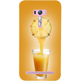 Snapdilla Light Background Classic Pineapple Juice Fruity Drink Unique Back Cover For Asus Zenfone Selfie ZD551KL
