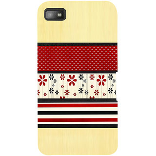 Snapdilla Light Background Red Floral Rangoli Pattern Simple Looking 3D Print Cover For BlackBerry Z10