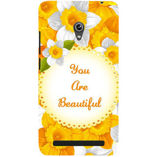 Snapdilla Yellow Flowers Background You Are Beautiful Quote Painting Mobile Case For Asus Zenfone 5