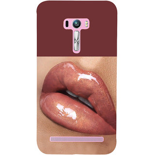 Snapdilla Sexy Hot Glossy Pink Lips Beautiful Lady Naughty Lipstick 3D Print Cover For Asus Zenfone Selfie ZD551KL