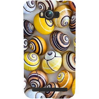 Snapdilla Artistic Modern Art Colourful Snail Shell Pattern Beach Cell Cover For Asus Zenfone Max