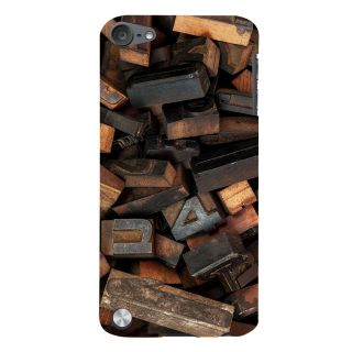 Snapdilla Old Style Wooden Alphabet Print Molds Simple Best Classic Designer Case For Apple IPod Touch 5