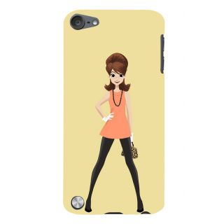 Snapdilla Light Background Animated Stylish Modern Cartoon Lady Smartphone Case For Apple IPod Touch 5