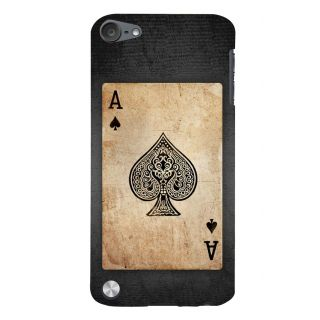 Snapdilla Black  White Vintage Ace Kalavar Spade Playing Deck Card Back Cover For Apple IPod Touch 5