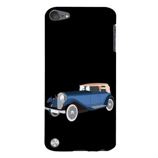 Snapdilla Black Color Background Vintage Old Model Blue Cartoon Jeep 3D Print Cover For Apple IPod Touch 5