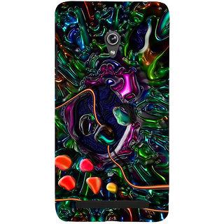 Snapdilla Colorful Artistic Graphic 3D Multi Color Pebbles Oil Painting Mobile Pouch For Asus Zenfone 5