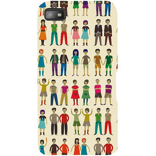 Snapdilla Lovely Cute Twin Brothers Cute Sisters Unique Pattern Mobile Cover For BlackBerry Z10