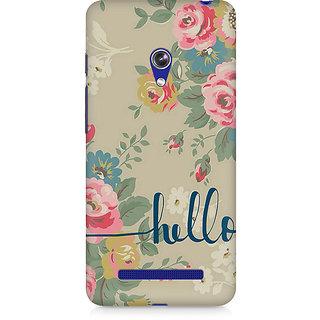 CopyCatz Flowery Hello Premium Printed Case For Asus Zenfone Go