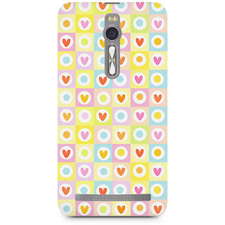 CopyCatz Cute Hearts In Squares Premium Printed Case For Asus Zenfone 2