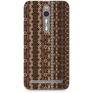 CopyCatz Brown Tribal Strips Premium Printed Case For Asus Zenfone 2